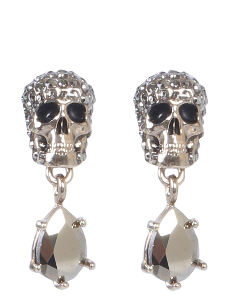 Alexander McQueen Skull Stone-studded Earrings - ORO