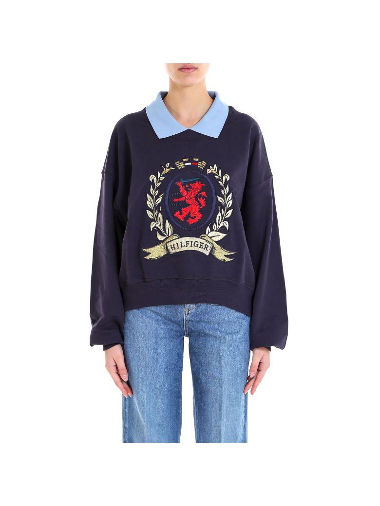 Tommy Hilfiger Collegiate Collared Sweatshirt - Blue