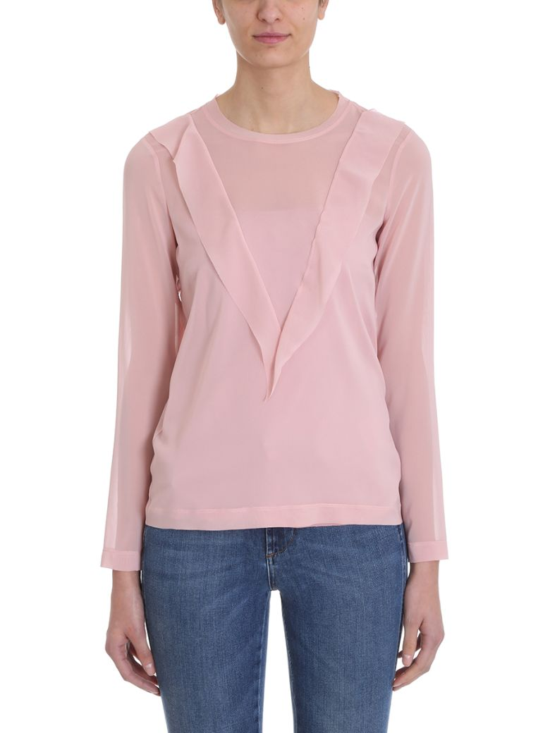 RED Valentino Pink Cotton Sweater - rose-pink