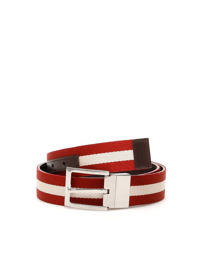 Bally Reversile Tonni Belt - CHOCOLATE|Rosso