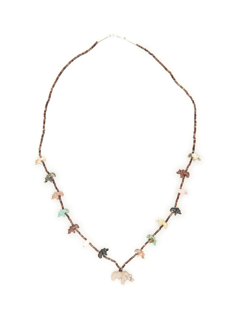 Jessie Western Bear Necklace - MULTICOLOR (Brown)