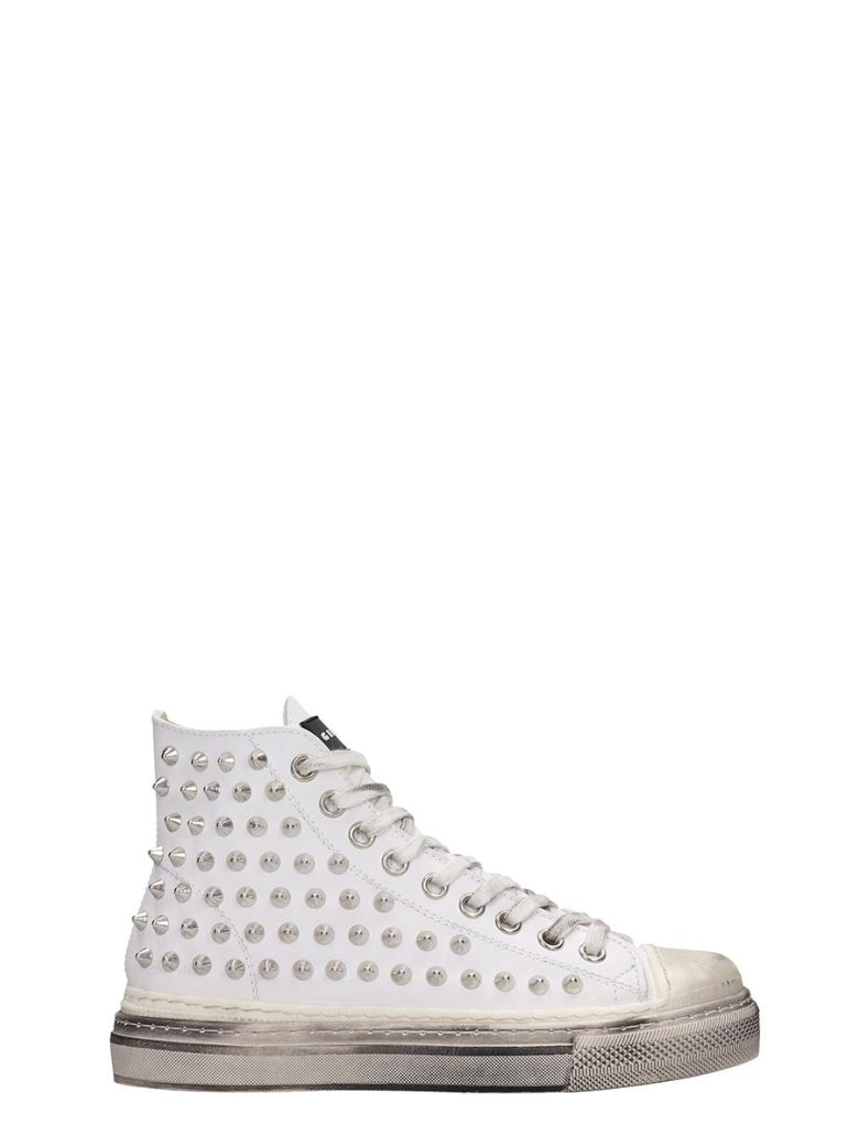 Gienchi J.m.high Sneakers In White Rubber/plasic - white