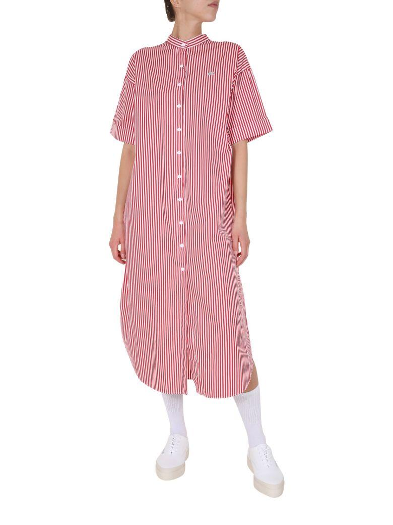 Lacoste Striped Dress - ROSSO