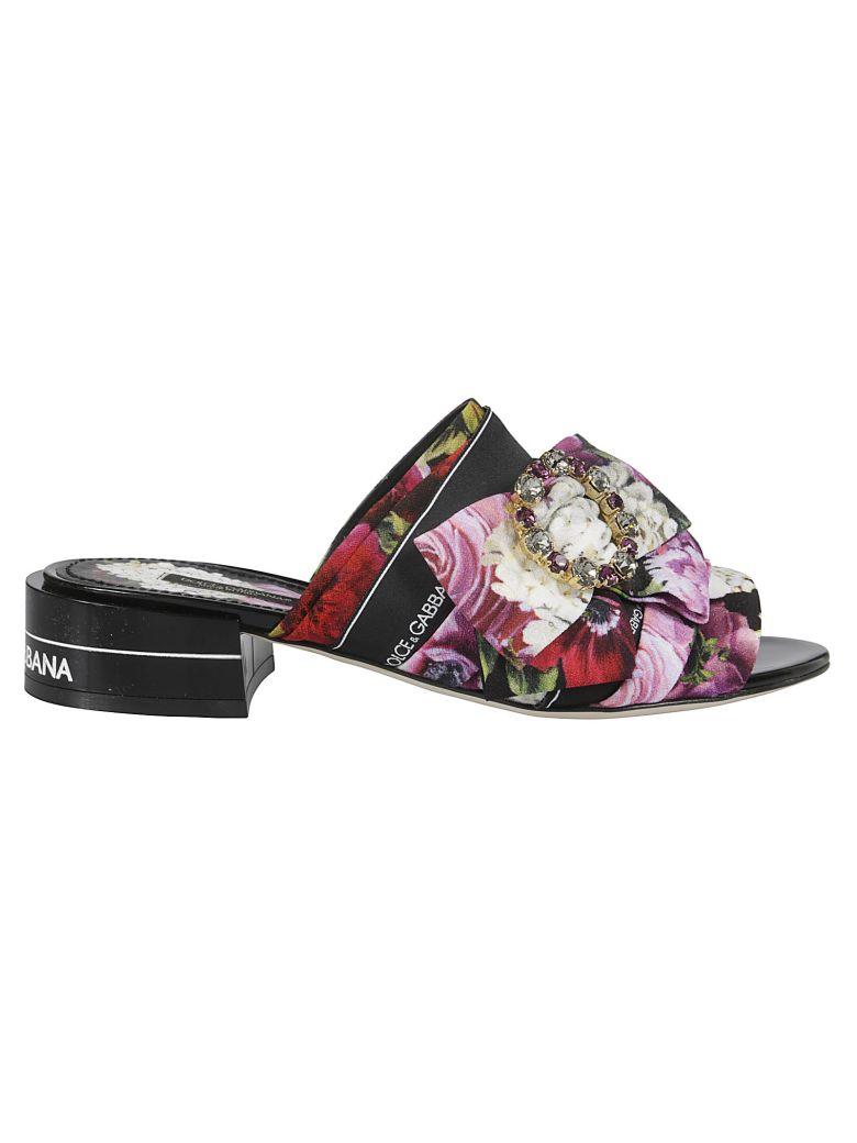 Dolce & Gabbana Floral Print Embellished Mules - Hnw86