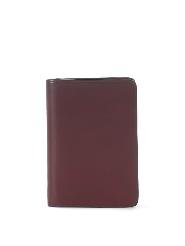 Il Bussetto Red Bordeaux Tuscan Leather Document Holder - Red