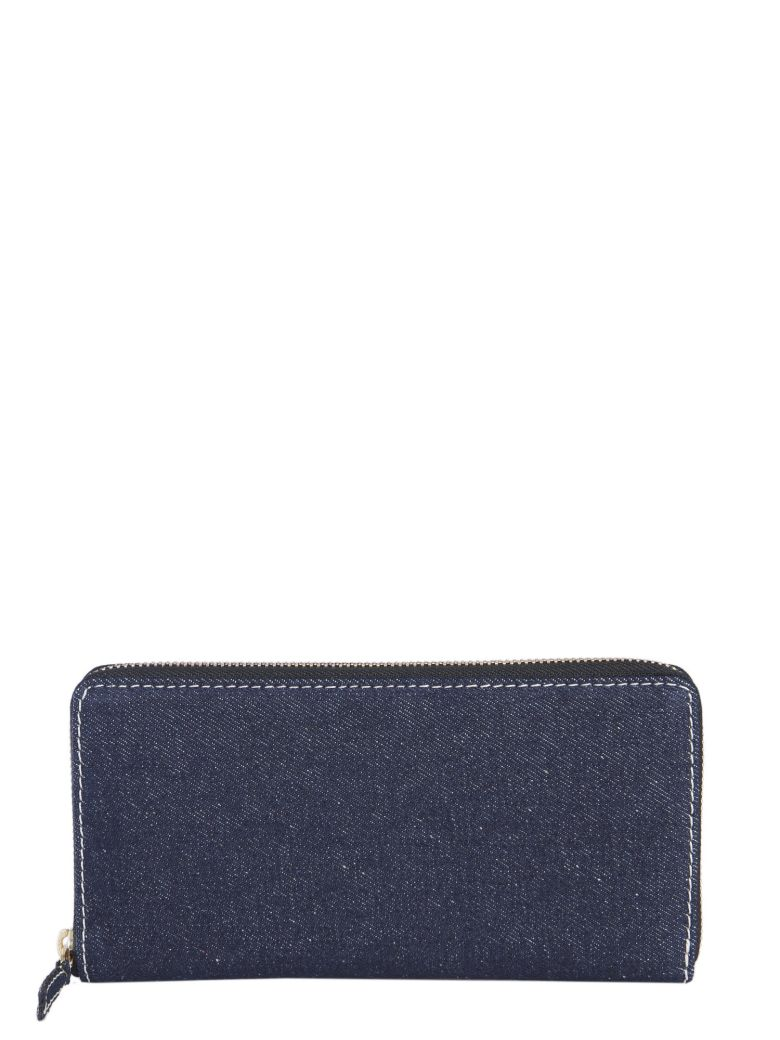 Comme des Garçons Wallet Zip Around Wallet - DENIM