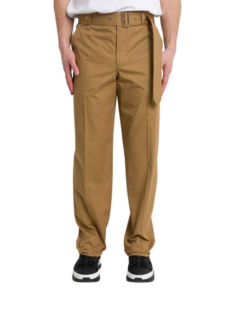 Burberry Pantalone In Cotone Beige - Beige