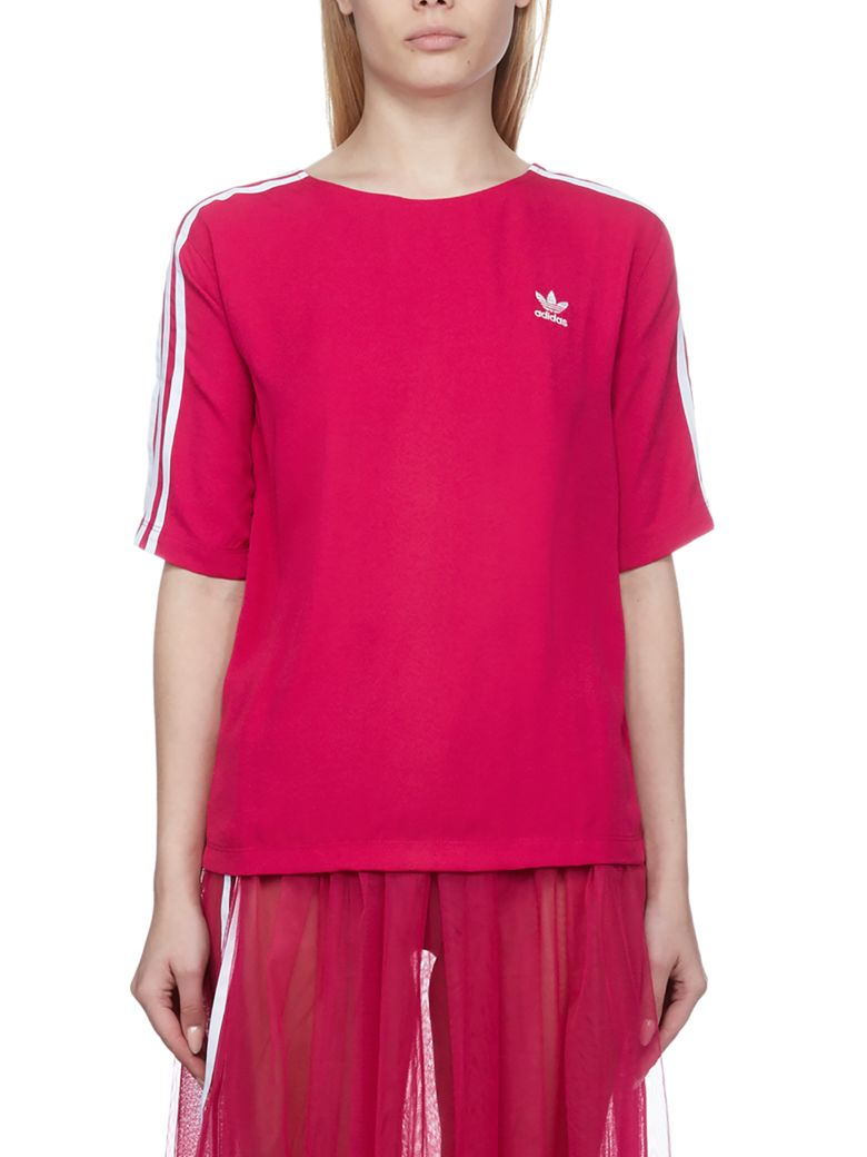 Adidas Originals Embroidered T-shirt - Fuxia