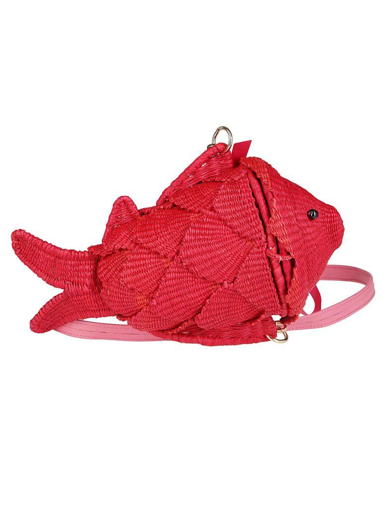 Sensi Studio Red Straw Bag - Red