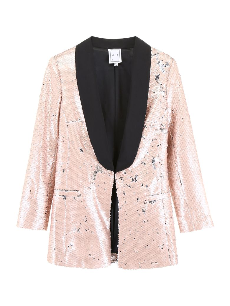In The Mood For Love Tuxedo Jacket With Sequins - MATTE PINK (Pink)