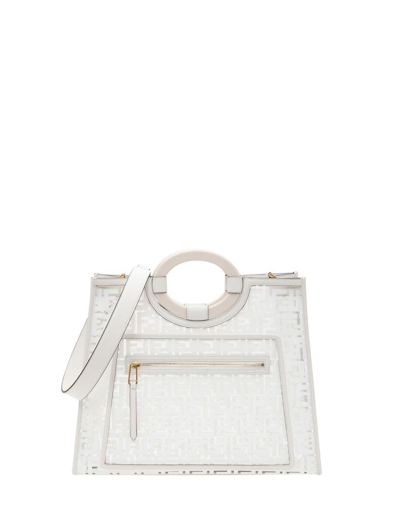 Fendi Transparent Shopper - White