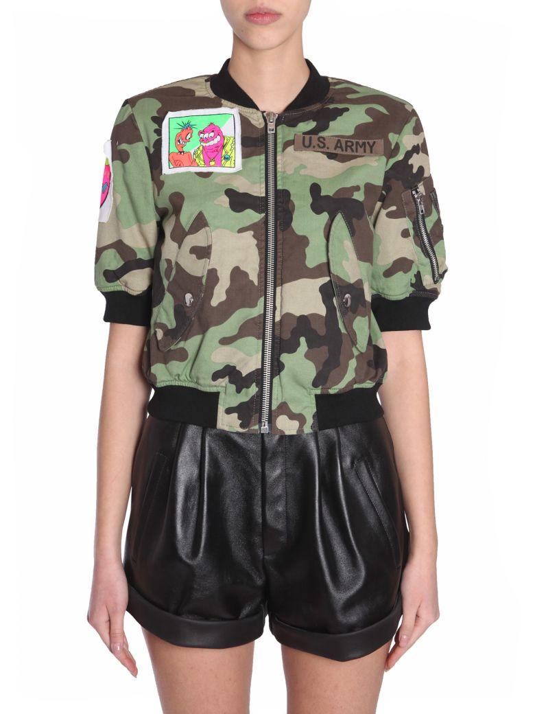 Jeremy Scott Camouflage Bomber Jacket - Multicolor
