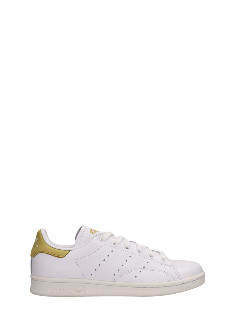 Adidas White Leather Stan Smith Sneakers - white