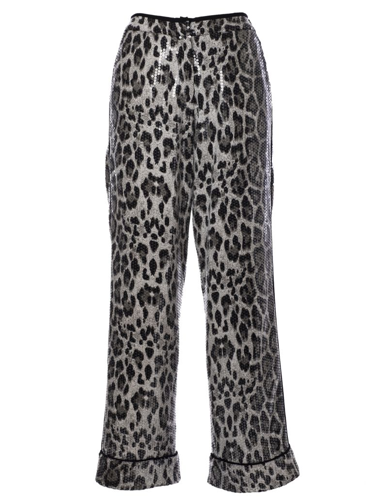 In The Mood For Love Sequin Embellished Trousers - Grey