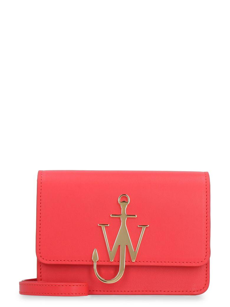 J.W. Anderson Anchor Logo Leather Shoulder Bag - red