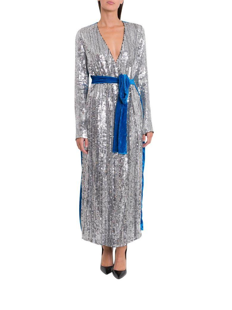 ATTICO Belted Sequin Dress - Argento
