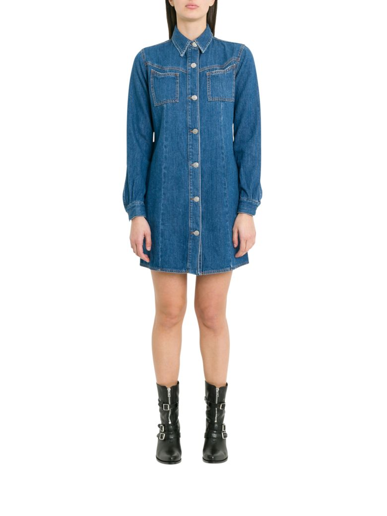 Ganni Sagamore Shirt Dress - Blu