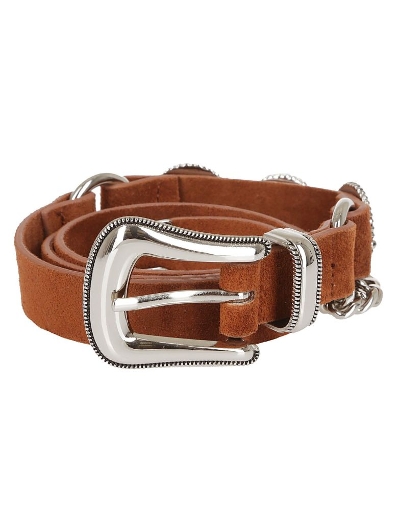 B-Low the Belt Chain Detail Belt - Cuoio