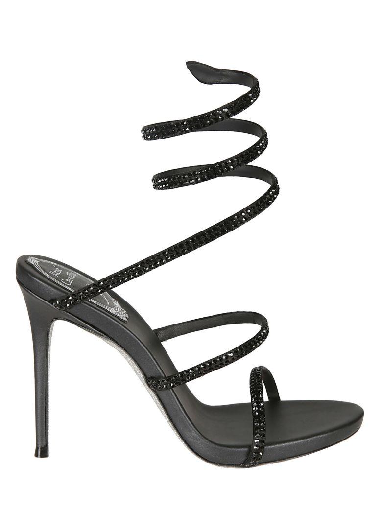 René Caovilla Rene Caovilla Crystal Embellished Sandals - Black