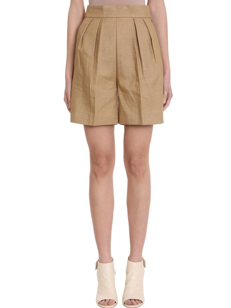 Theory Tapered Shorts - leather color