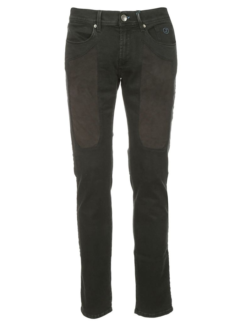 Jeckerson Patch Detail Jeans - BLACK-BLACK