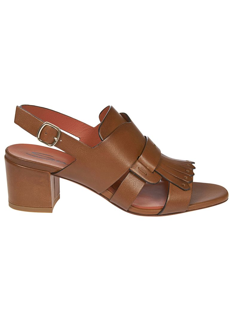 Santoni Block Heel Sandals - Brown