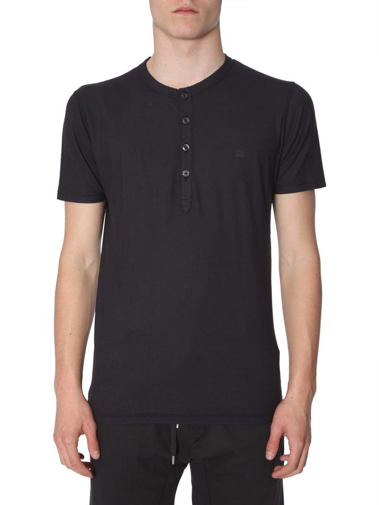 C.P. Company Half-button T-shirt - NERO
