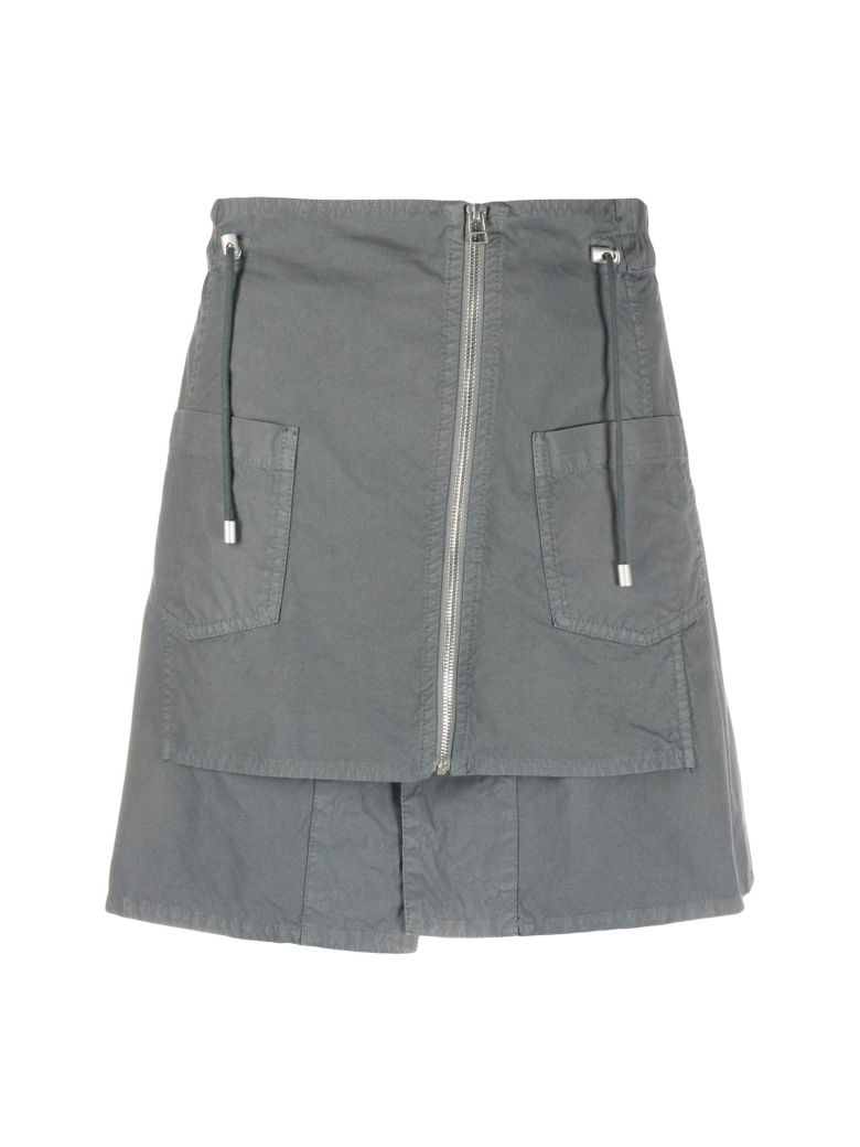 Mr & Mrs Italy Mini Skirt With Zippers - ANTRACITE
