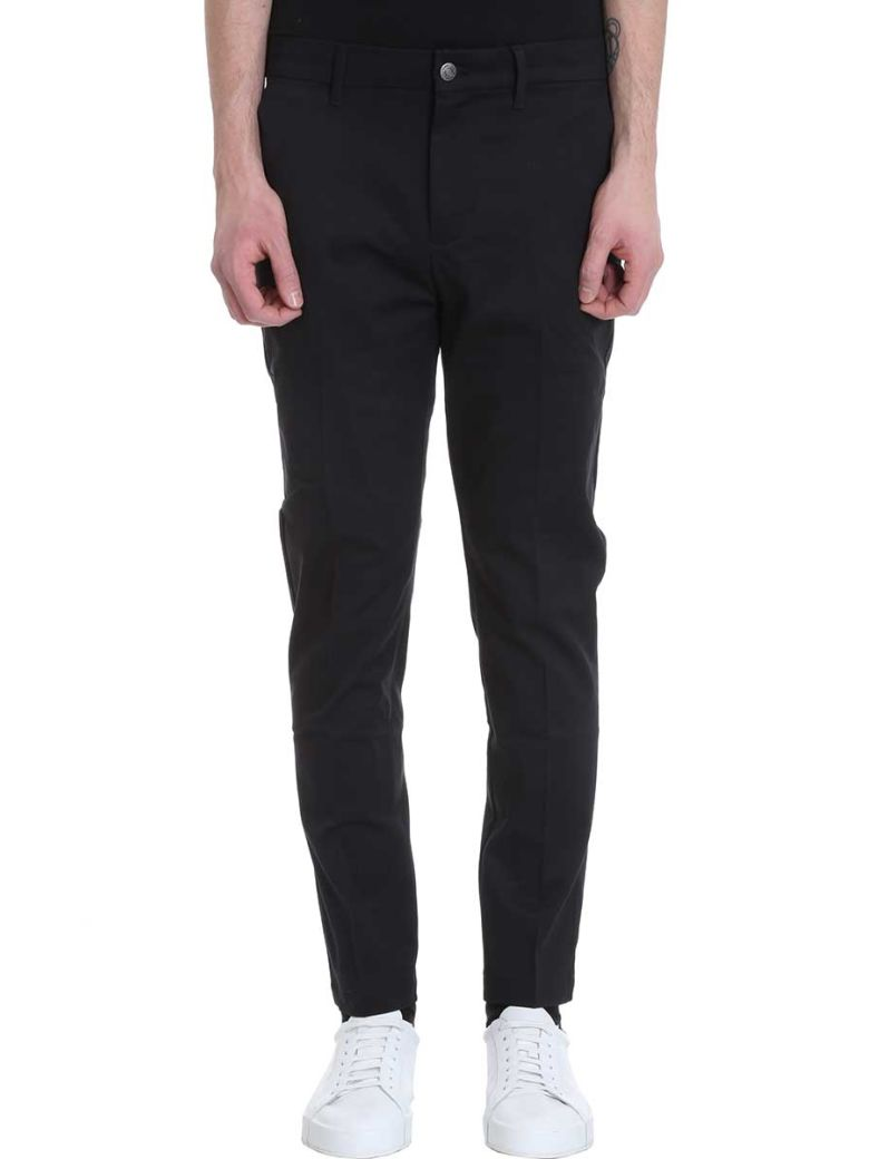 Calvin Klein Jeans Black Cotton Pants - black