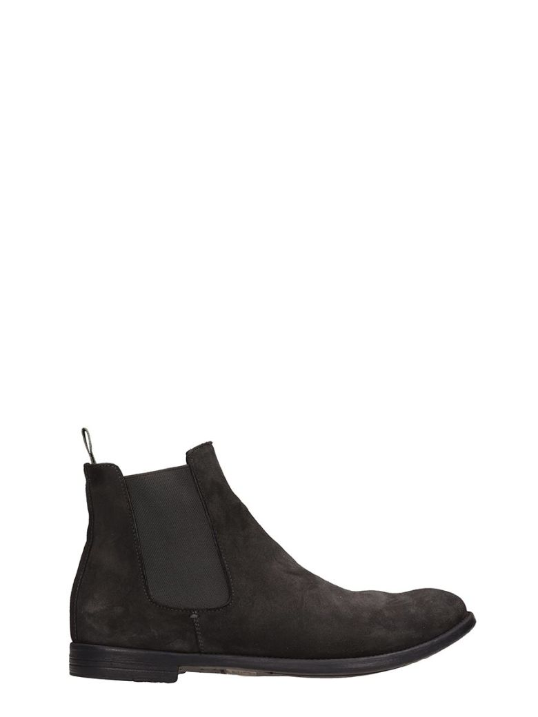 Officine Creative Grey Nabuk Ankle Boots - Gray