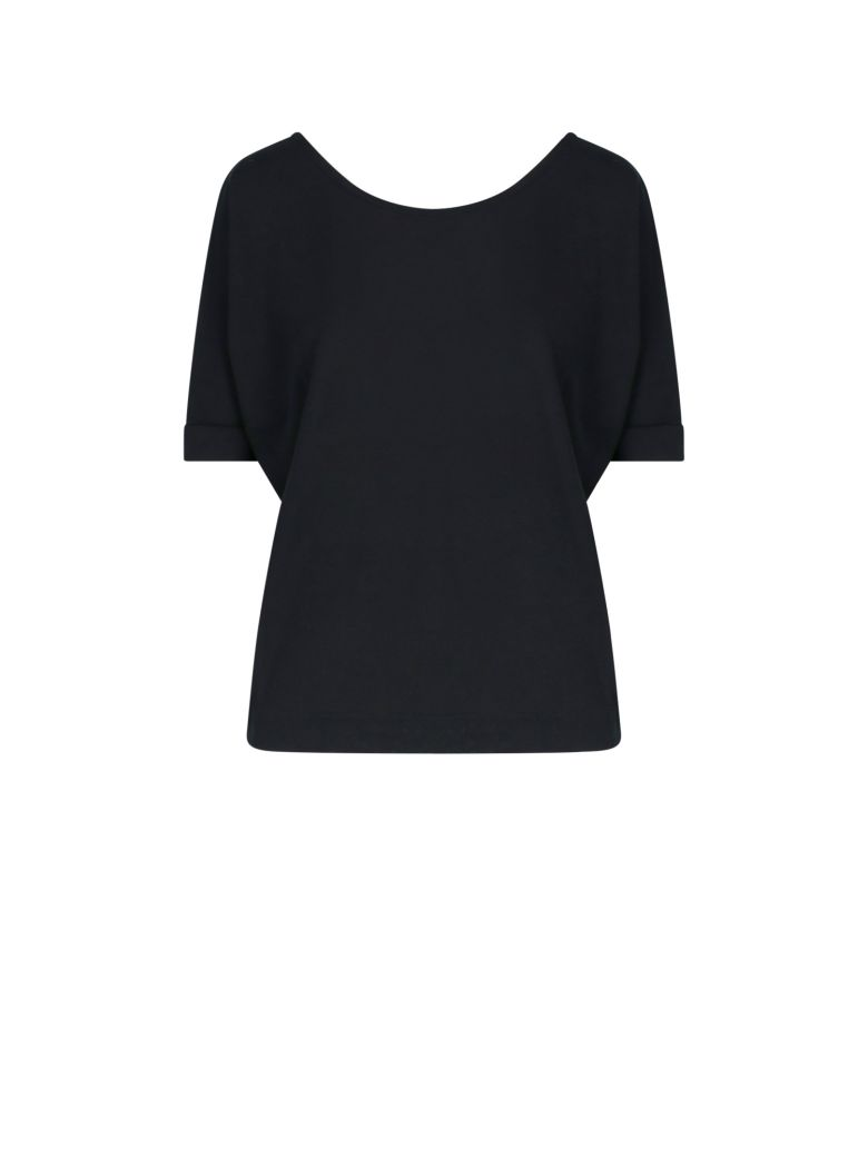 Zanone Rear V-neck T-shirt - Black