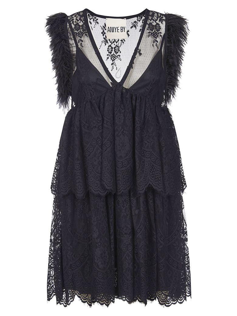 aniye by Sleeveless Fringed Dress - Nero