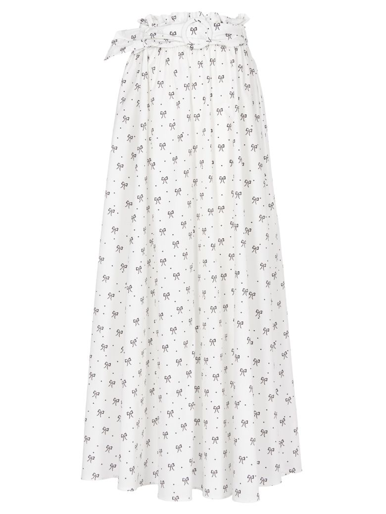Vivetta Printed Skirt - white