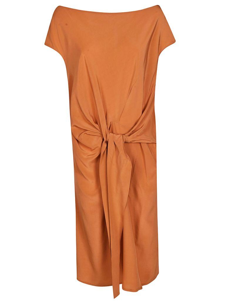 Tela Tie Detail Dress - Orange