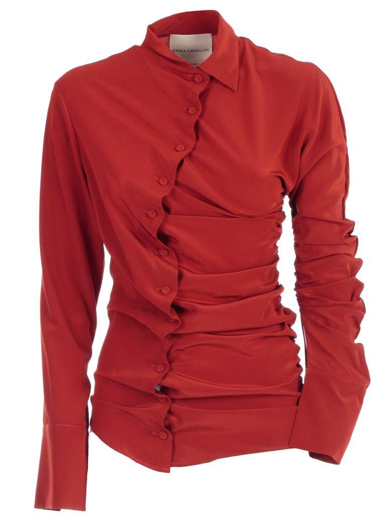 SEMICOUTURE Erika Cavallini Buttoned Shirt - Paprica