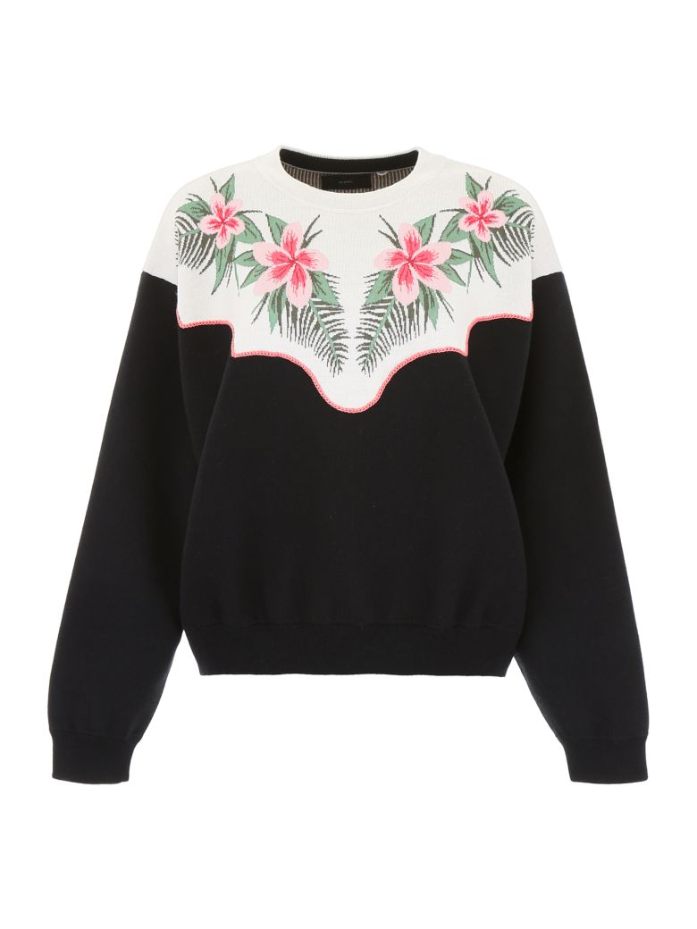 Alanui Tropical Flowers Pullover - EMBASSY BLACK (Black)