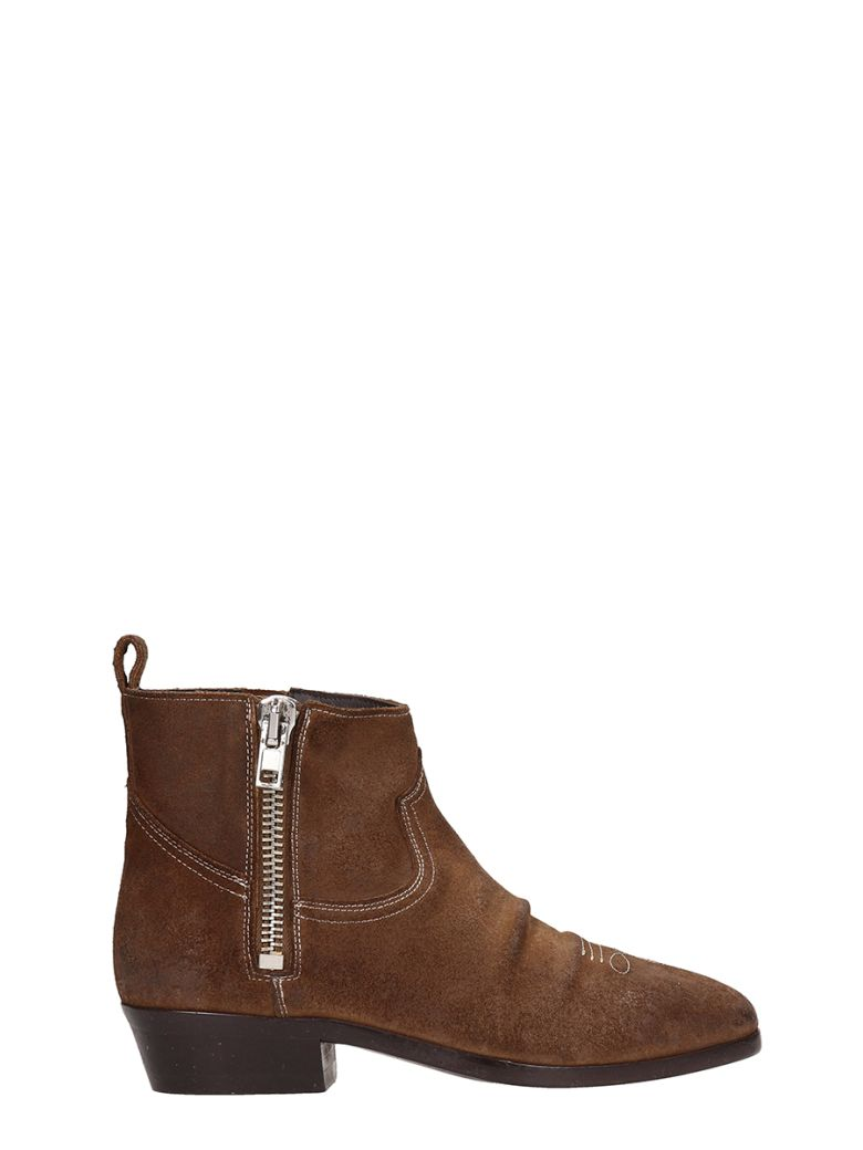 Golden Goose Viand Brown Suede Ankle Boots - brown