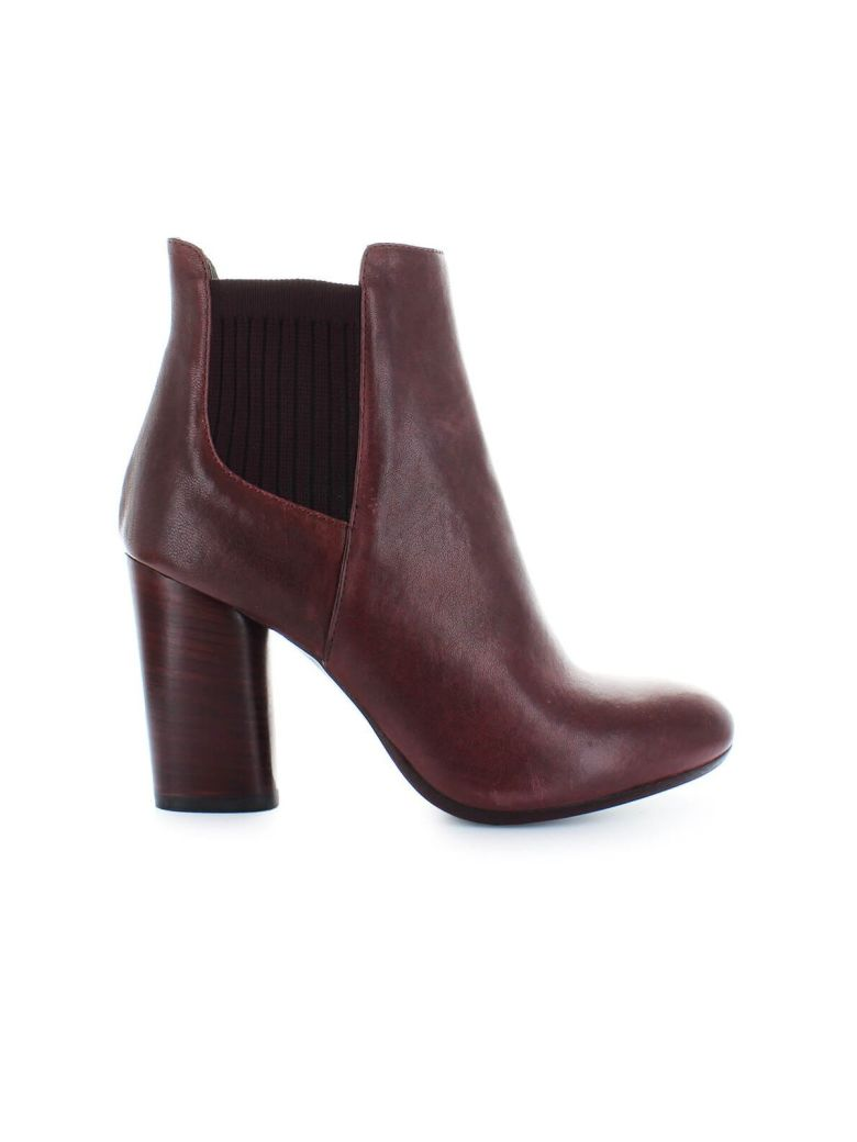 Fiori Francesi Bordeaux Leather Boots - Bordeaux (Red)