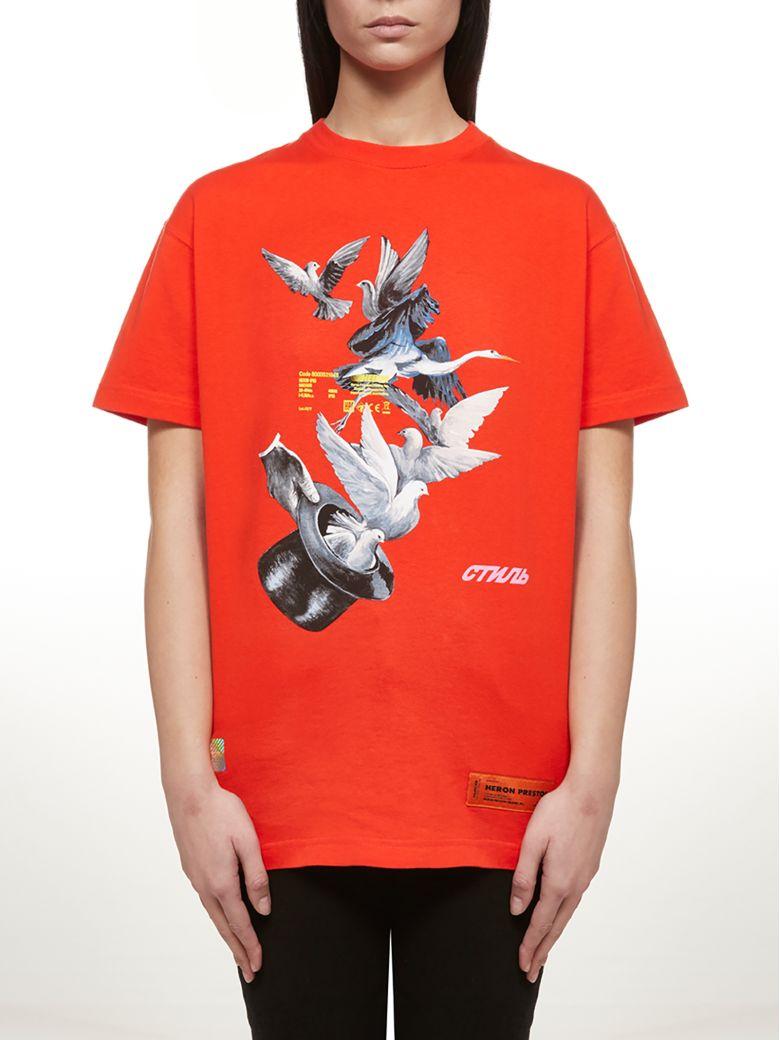 HERON PRESTON Short Sleeve T-Shirt - Rosso multicolor