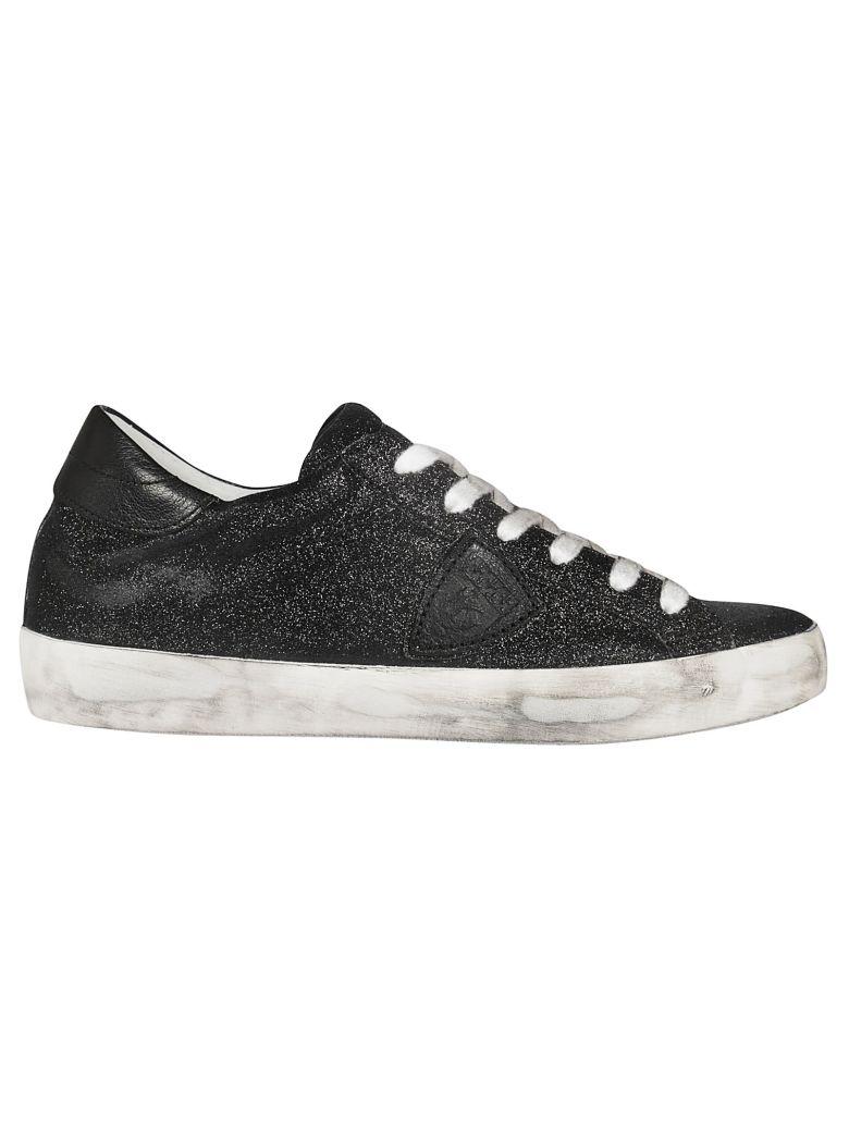 Philippe Model Paris Glitter Sneakers - Black