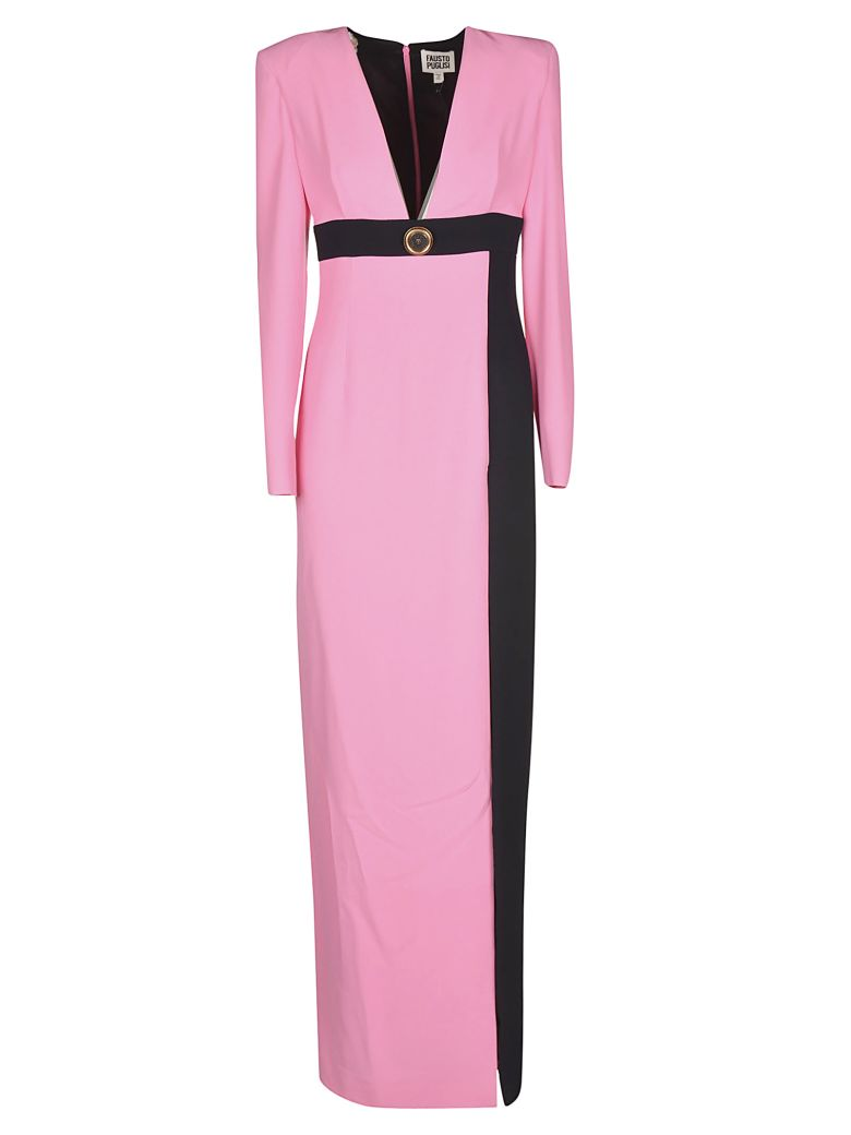 Fausto Puglisi Long V-neck Dress