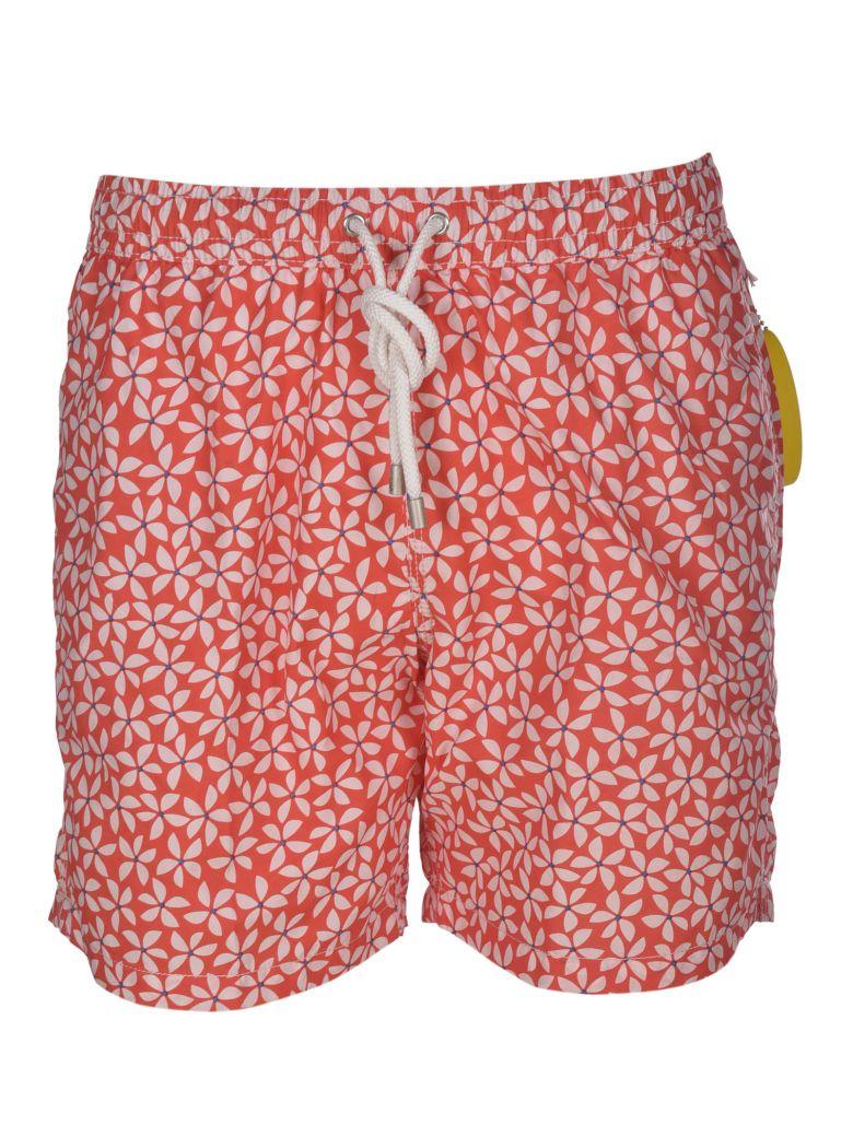 Hartford Floral Print Swim Shorts - Red