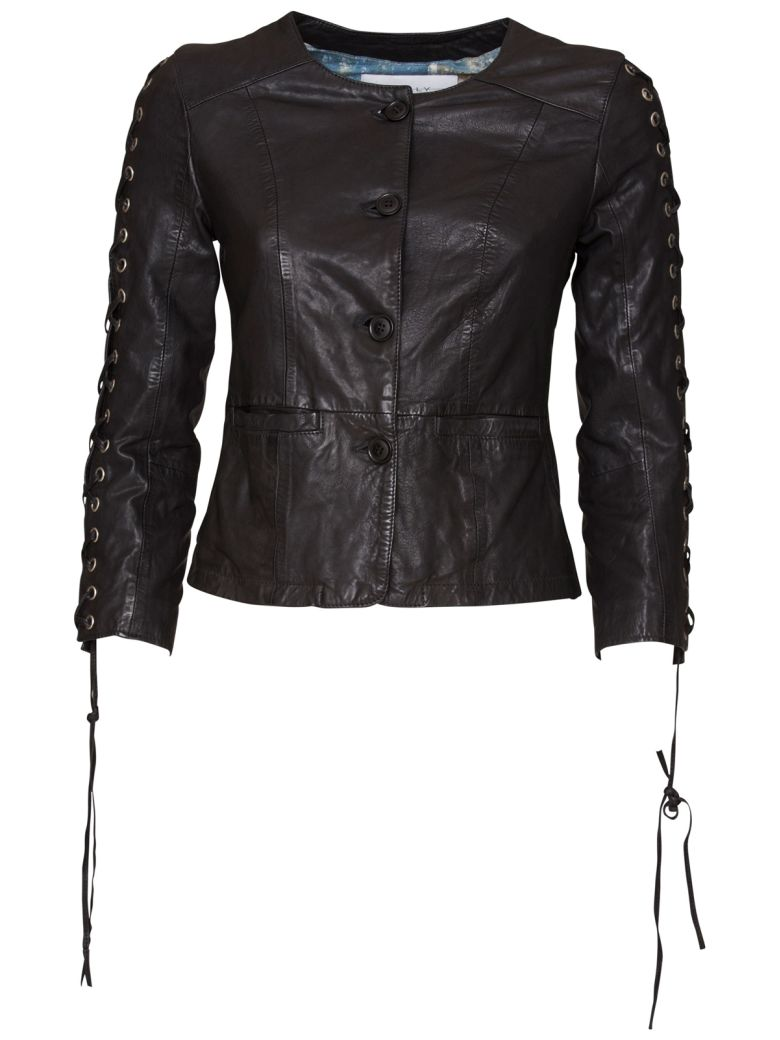 Bully Leather Jacket - NERO