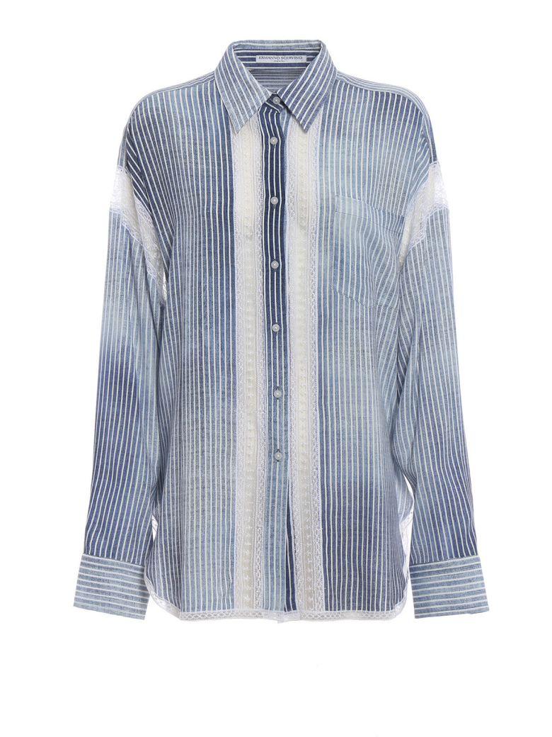 Ermanno Scervino Lace-insert Shirt - Sazzurro