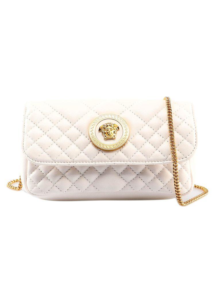 Versace Lambskin Shoulder Bag - Ot Off White Oro Tribute