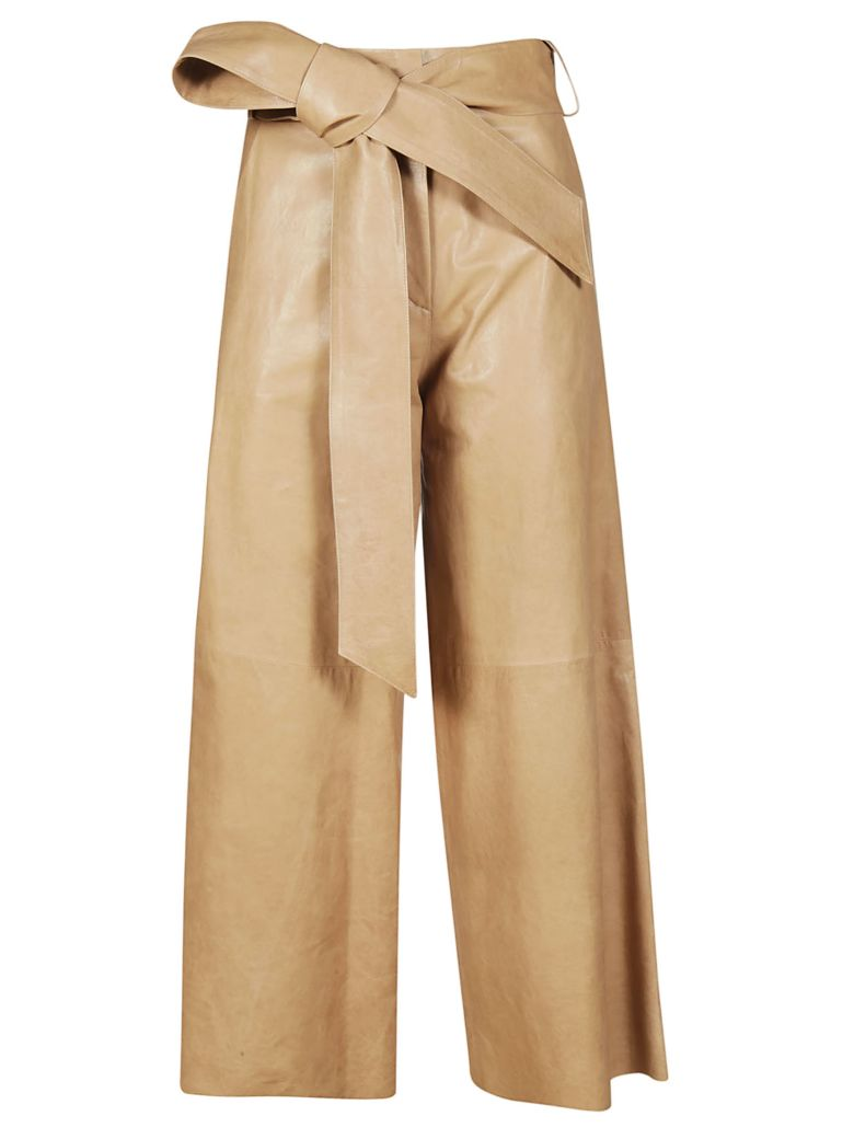 DROMe Bow Detailed Trousers - Brown