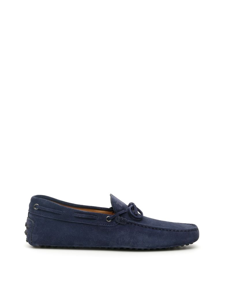 Tod's Suede Gommino Loafers - GALASSIA (Blue)