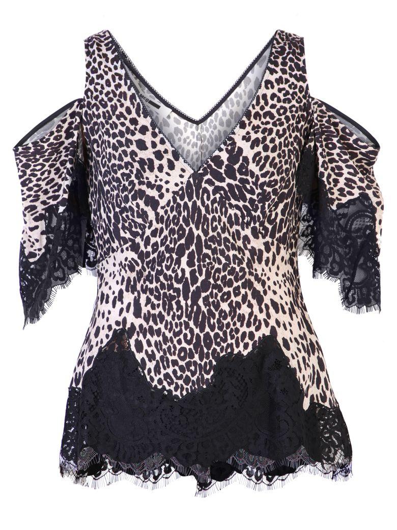 McQ Alexander McQueen Leopard Print Blouse - Black