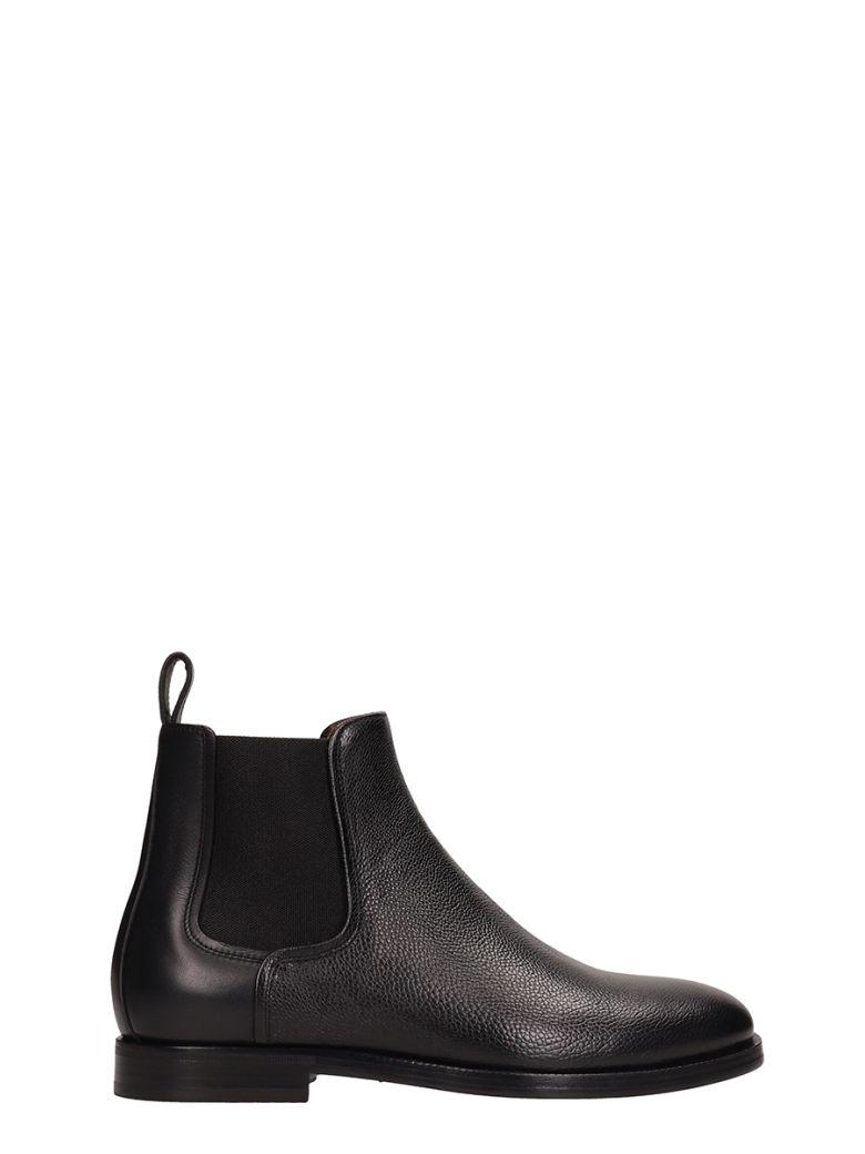 Lanvin Black Leather Chelsea Boots - black