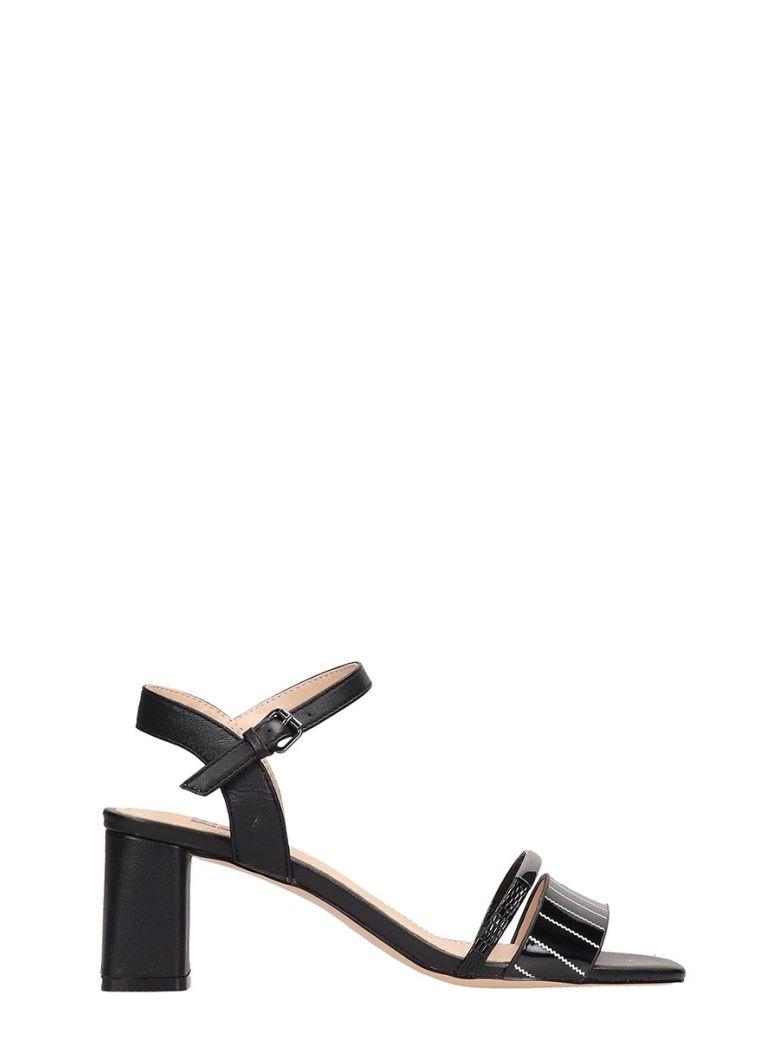 Bibi Lou Black Patent Leather Sandals - black